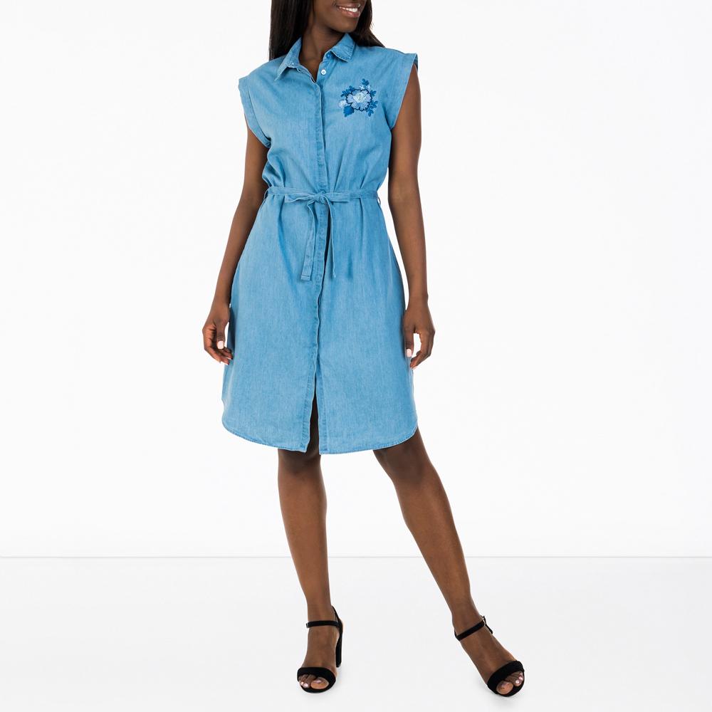 895fa5c5a2eba Women's Light Wash Utility Shirt Dress