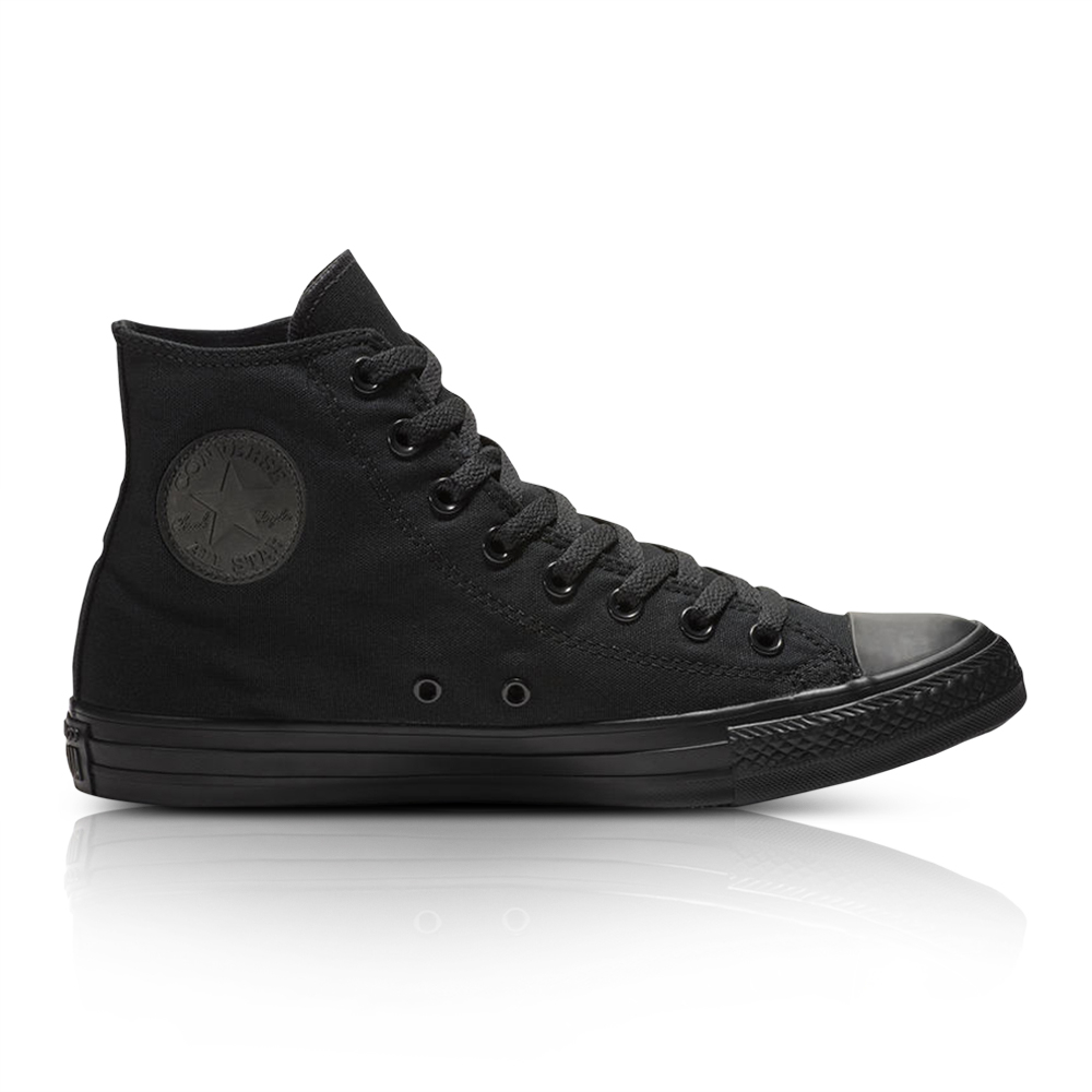 64cbcded04af Converse Junior Chuck Taylor All Star High Mono Essential Black Sneaker.  061033AAAC6
