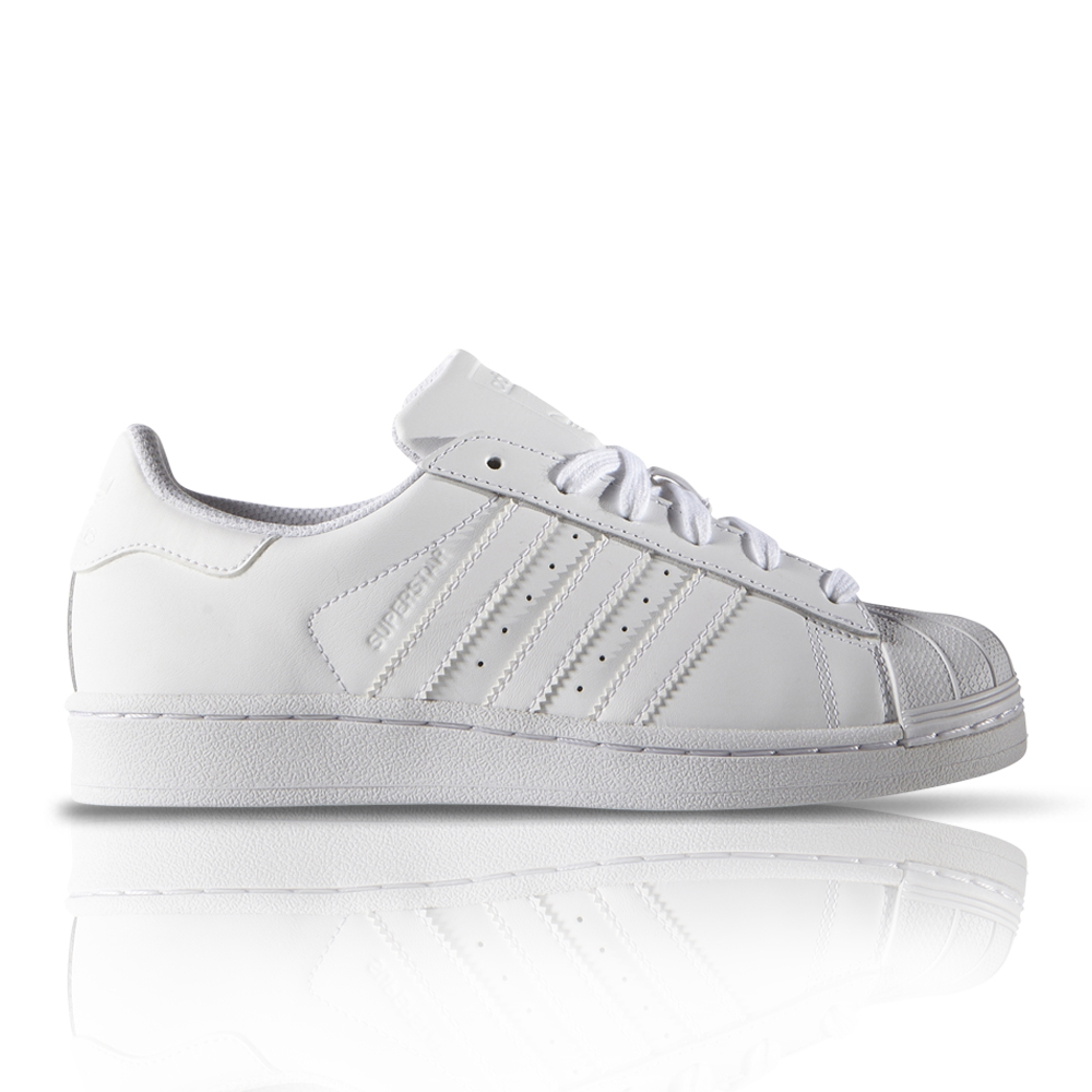 new style 55bae 9ef7a adidas Originals Junior Superstar Foundation White Sneaker. 061037AAAE9