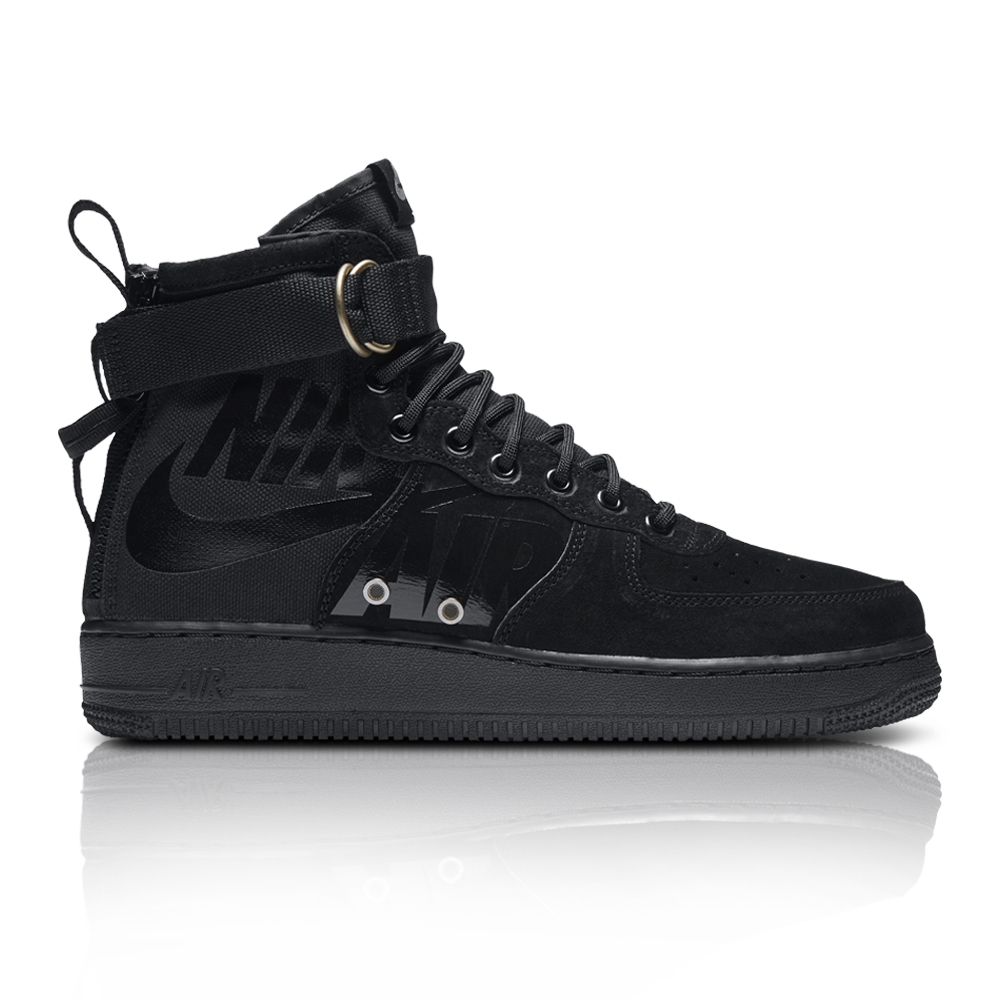 1f9ae8dd3 Nike Men's SF Air Force 1 Mid Black Sneaker. 061017AAJD4