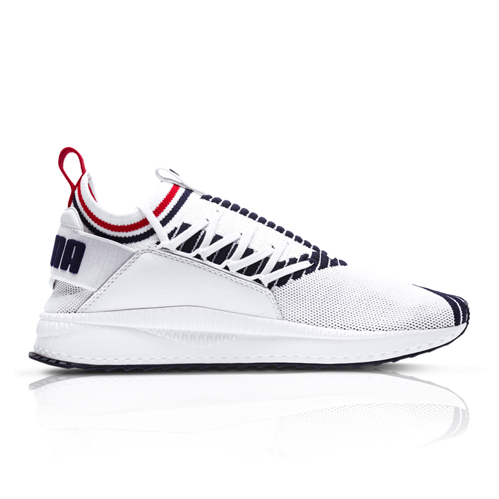 e942ebe795c24e Puma Men s Tsugi Jun Sport Stripes White Blue Sneaker. 061012AAKQ2