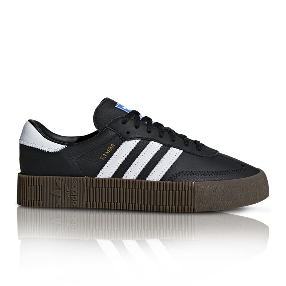 0a40544ab adidas Originals Women's SambaRose Black/White Sneaker. 061028AAEK5