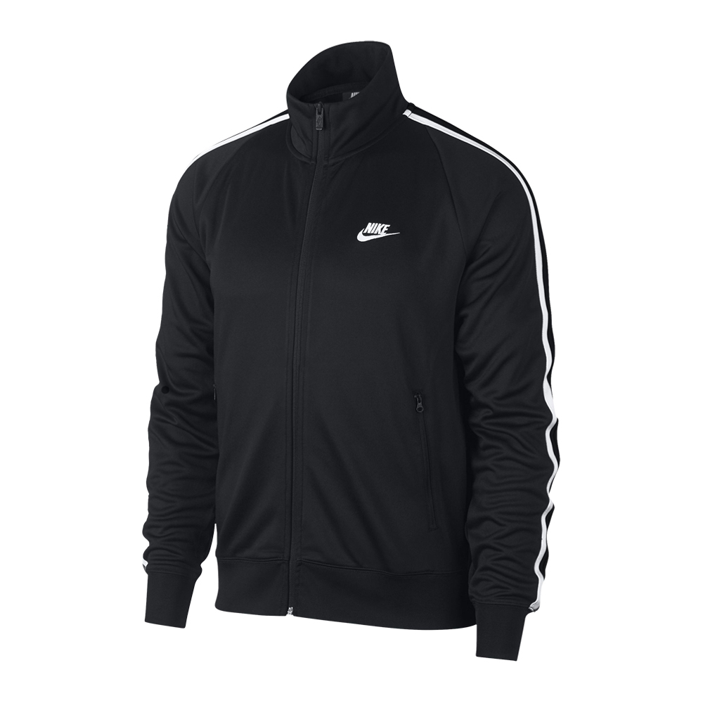 dd9e44aeb Nike Sportswear N98 Men's Black Knit Warm-Up Jacket. 060601AAIG3