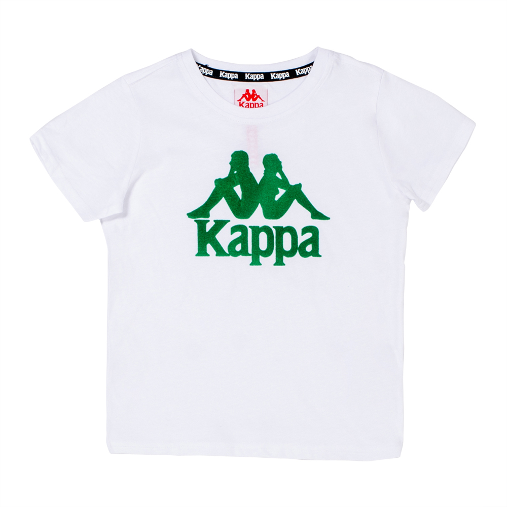87d9e1259d Kappa Kids White/Green Authentic Estessi T-Shirt