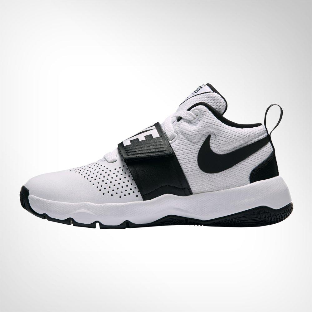 fe73cca4885 Junior Grade School Nike Team Hustle D8 White Black Shoe