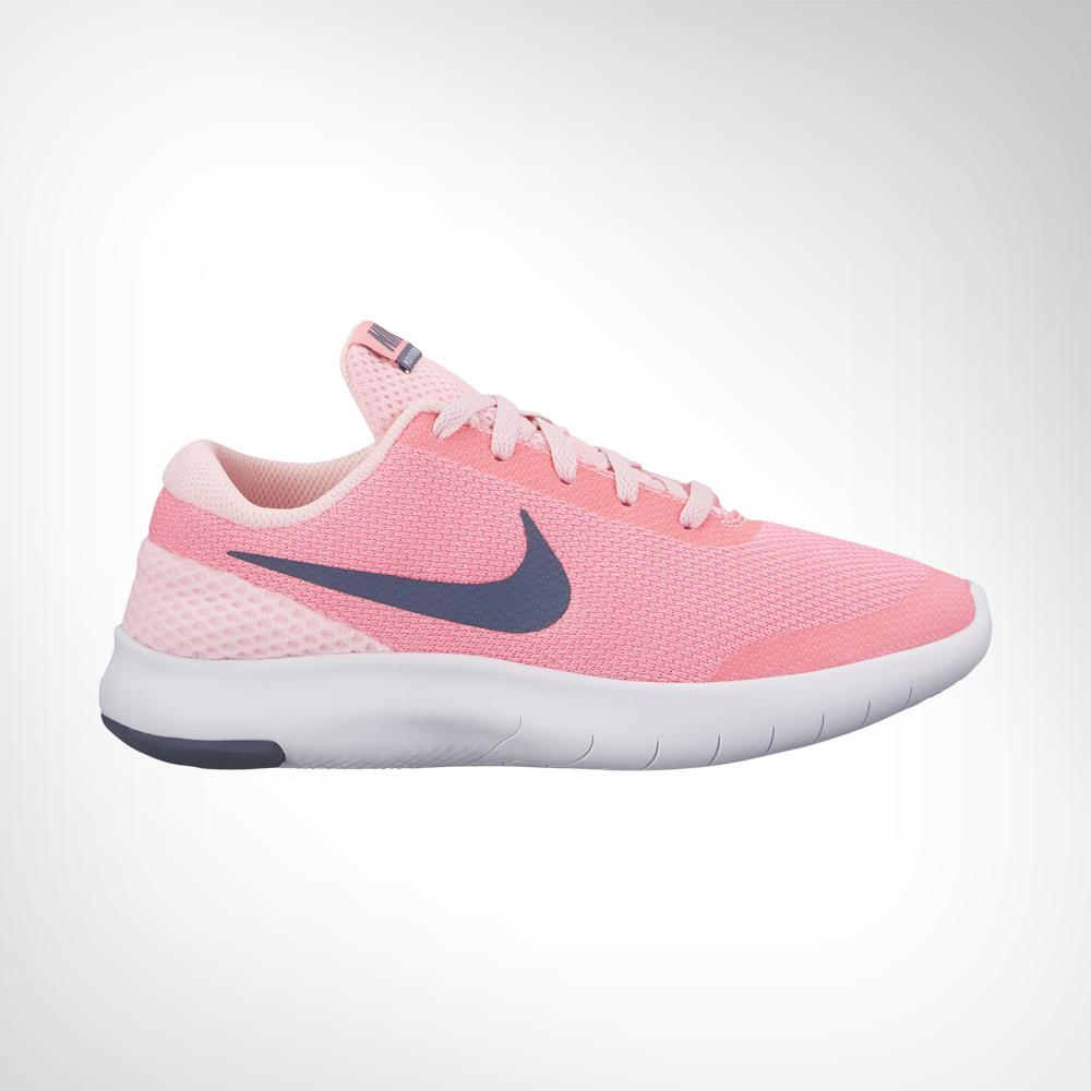42ea648085232 Junior Grade School Nike Flex Experience RN 7 Pink Grey Shoe. 139260AABM6