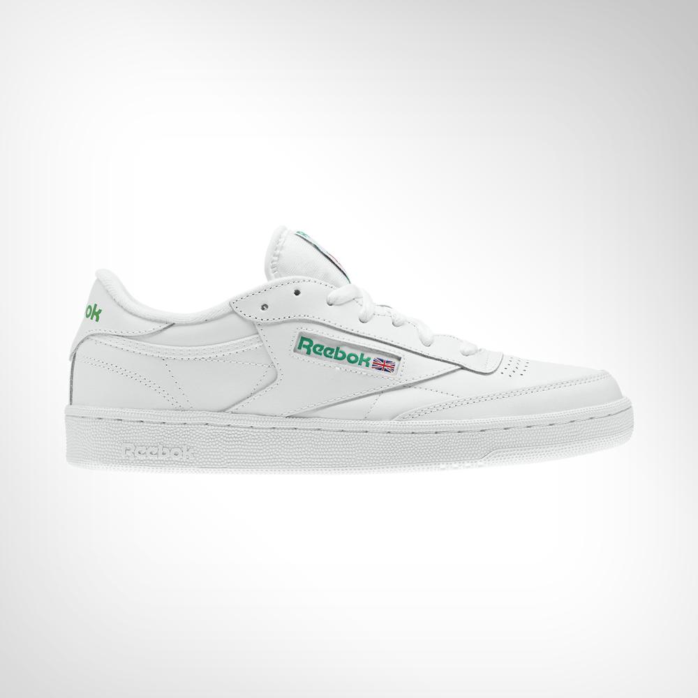 acf507e23 Men's Reebok Club C 85 White/Green Shoe. 139244AAFS6