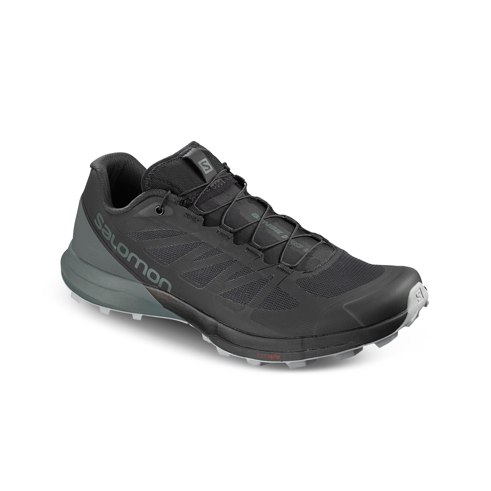 7b8428aa1fca57 Men's Salomon Sense Pro 3 Black/Green Shoe. 139270AABT8