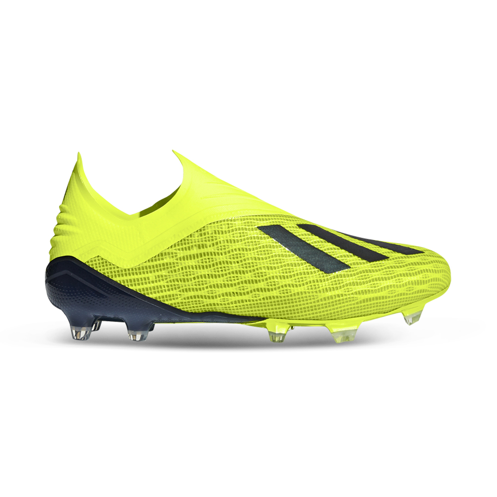 a71bf734c Men's adidas X 18+ FG Yellow/Black Boot. 135140AAGD1