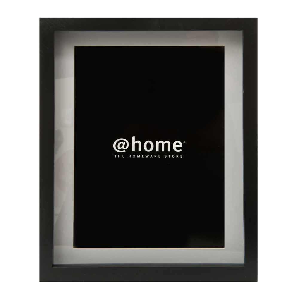 certificate frame w/3D inset wood black