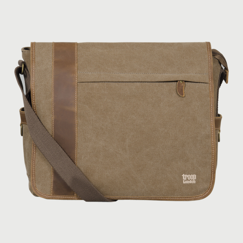 57f22bed2 Troop London messenger bag-brown