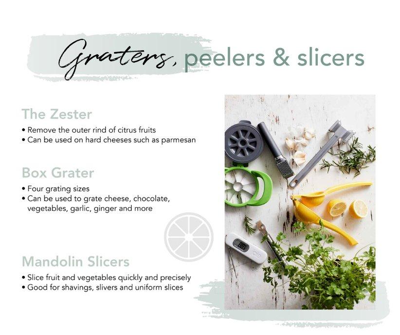 Graters, peelers & slicers
