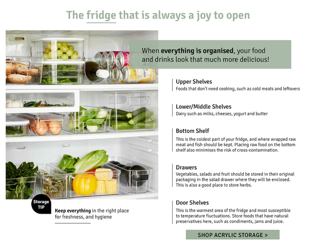 The fridge that is always a joy to open. When everything is organized, your food and drinks look that much more delicious.