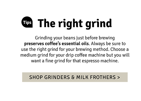 Shop grinders & milk frothers