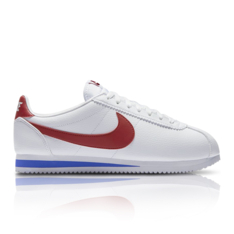 brand new 4bf98 defc9 Nike Men s Classic Cortez Leather White Red Sneaker