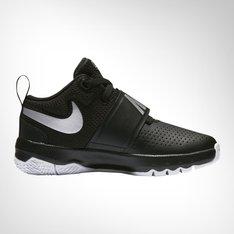 los angeles b5c3c 2e304 Junior Pre School Nike Team Hustle D8 Black Silver White Shoe