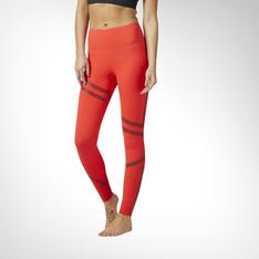 Women s Reebok Linear High Rise 3 4 Red Leggings be72b84a63f