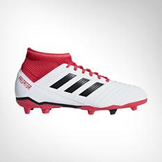 36783885988a Junior adidas Predator 18.4 FG White Black Coral Boot