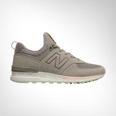 new styles ff8d2 6857f Women s New Balance 574 Sport Grey Pink Shoe