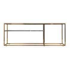 Cleo Antique Brass Side Table
