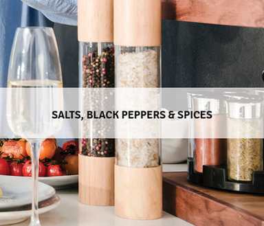 Salts, Black Pepper & Spices