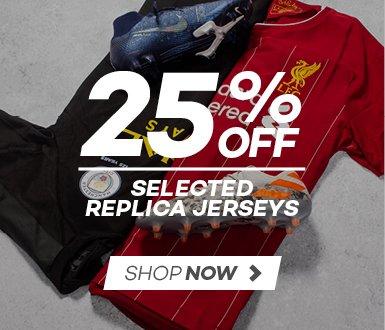 25% OFF selected Replica jerseys