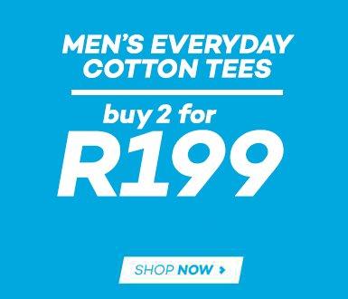 Buy 2 men's 1982 Everyday Tees for R199