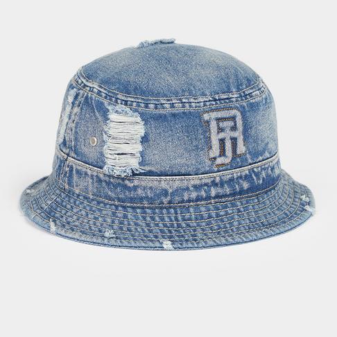 e645fa28d93 Mens Rip   Repair Denim Bucket Hat