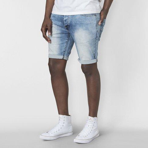 Mens Marble Denim Knit Short Relay Jeans