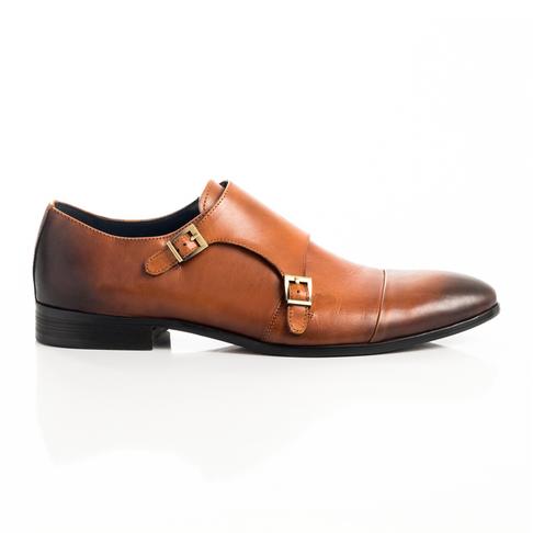 Mkm Premium Leather Monk Strap Shoe