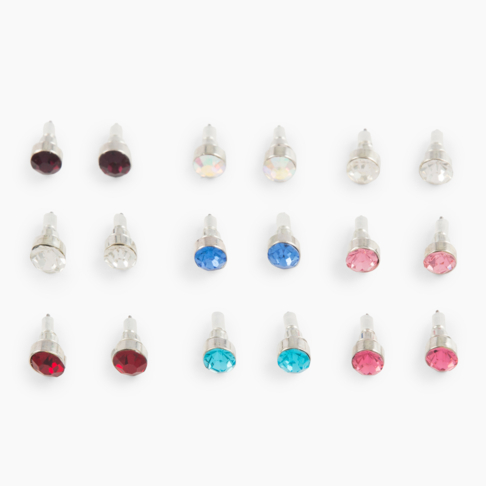 9b5604715 Women's 9 Pack Multi Colour Studs