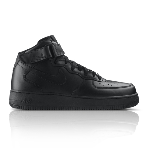 wholesale dealer 535c0 0ea80 Nike Men s Air Force 1 Mid  07 Black Sneaker