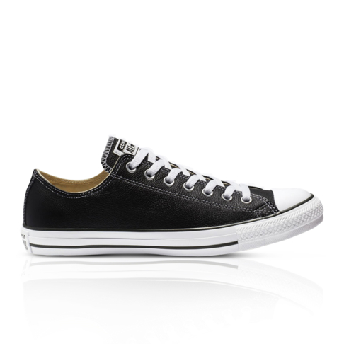 447969f9b026 Converse Junior Chuck Taylor All Star Low Leather Black Sneaker