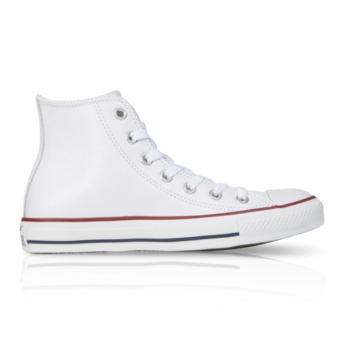 Converse Junior Chuck Taylor All Star High Leather White Sneaker 6f5588ffd3403