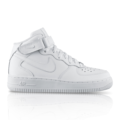 uk availability 9bcc5 03d80 Nike Women's Air Force 1 '07 Mid White Sneaker