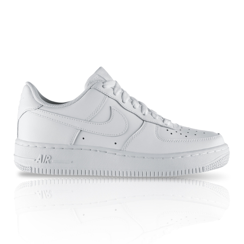 69d0e52a592c Nike Junior Air Force 1 Low White Sneaker