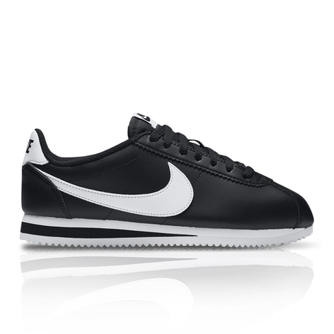 new styles 92214 d28dc ... where can i buy nike womens classic cortez leather black white sneaker  20756 fe0d9 ...