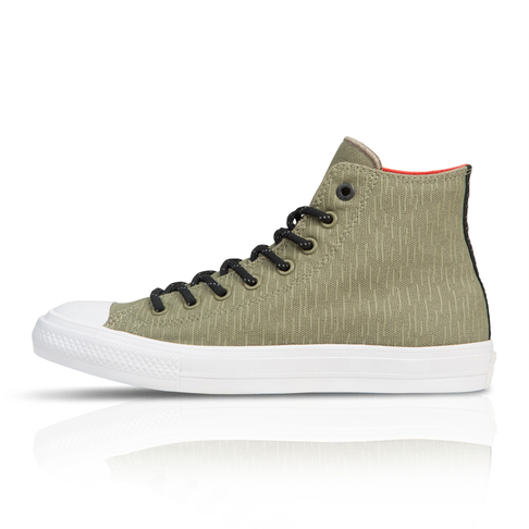 f98c949e66da Converse Men s Chuck Taylor All Star II Shield Canvas High Green Grey  Sneaker