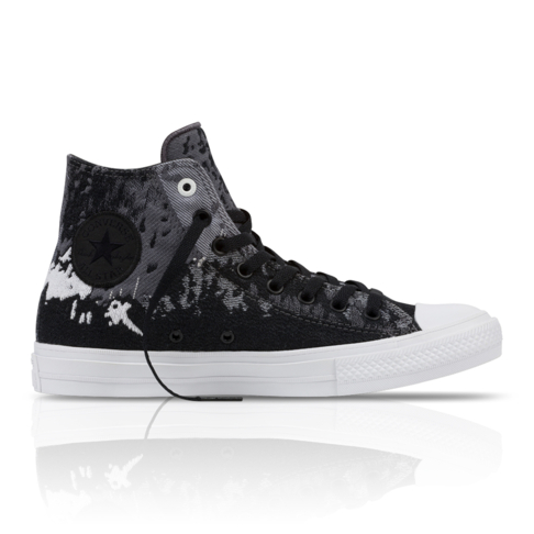 Converse Men s Chuck Taylor All Star II Engineered Canvas High Black Grey  Sneaker 8e07bdada