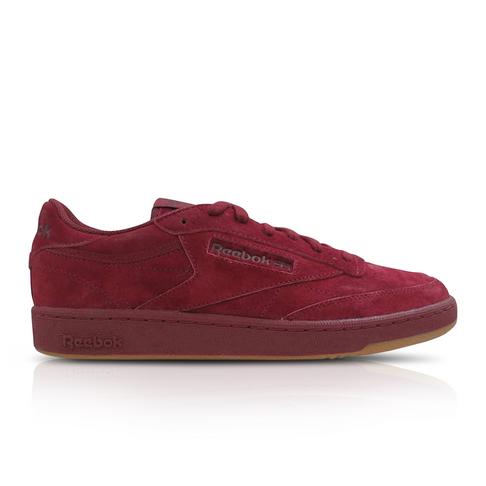 3dc133c46786 Reebok Men s Club C 85 TG Maroon Burgundy Sneaker