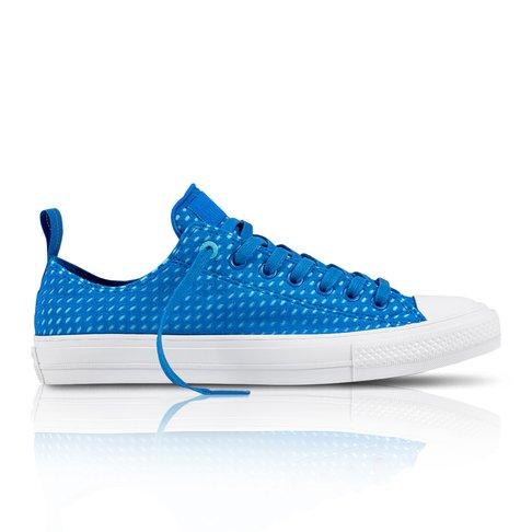 Converse Men s Chuck Taylor All Star II Lycra Low Blue Aqua Sneaker 121bead2c