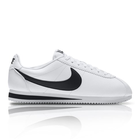 sports shoes b3899 fba7b Nike Men s Classic Cortez Leather White Black Sneaker