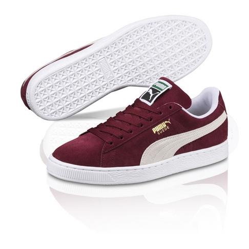 Puma Men s Suede Classic Burgundy Red Sneaker f835aa0864c46