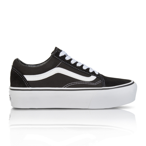 Vans Women s Old Skool Platform Black White Sneaker 044ffd04b86b