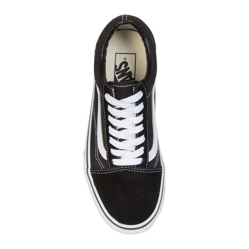 bf797a008e6953 Vans Women s Old Skool Platform Black White Sneaker