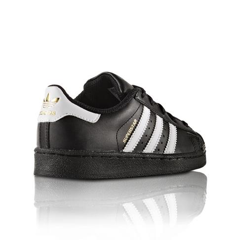 promo code 51f66 b0abf adidas Originals Toddlers Superstar Foundation Black/White Sneaker