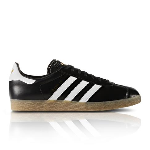 promo code 5ac2e 377a6 adidas Originals Mens Gazelle Leather BlackWhite Sneaker