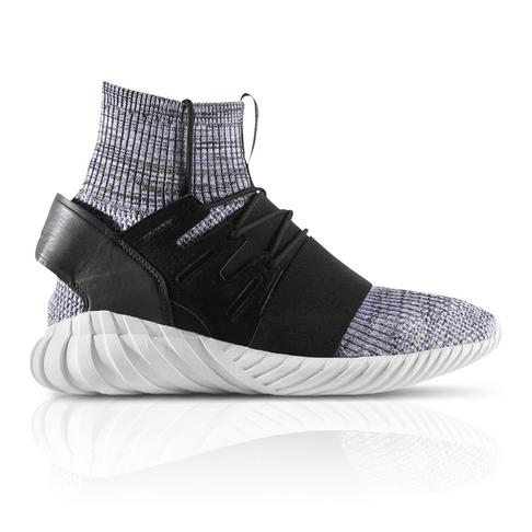 4b488f0dee56 adidas Originals Men s Tubular Doom Primeknit Black Grey Sneaker