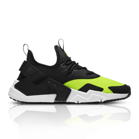 size 40 167e8 adbf2 hot nike mens air huarache drift black neon yellow sneaker 046c0 abc6e