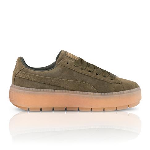 5844a870006 Puma Women s Platform Trace Green Khaki Sneaker